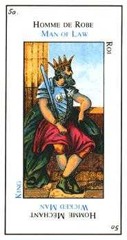King of Spades Tarot Card - Etteilla Tarot Deck