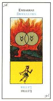 Two of Pentacles Tarot Card - Etteilla Tarot Deck