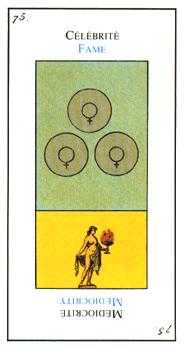 Three of Coins Tarot Card - Etteilla Tarot Deck
