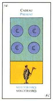 Four of Discs Tarot Card - Etteilla Tarot Deck