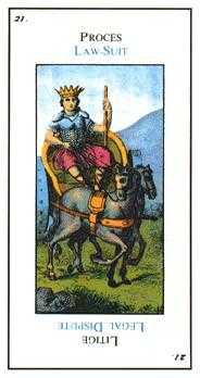 The Chariot Tarot Card - Etteilla Tarot Deck