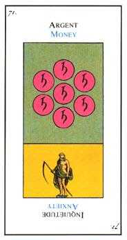 Seven of Pentacles Tarot Card - Etteilla Tarot Deck