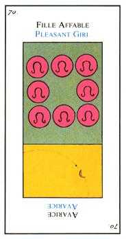 Eight of Discs Tarot Card - Etteilla Tarot Deck