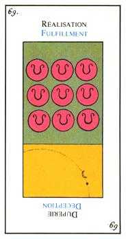 Nine of Discs Tarot Card - Etteilla Tarot Deck