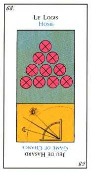 Ten of Coins Tarot Card - Etteilla Tarot Deck