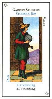 Slave of Pentacles Tarot Card - Etteilla Tarot Deck