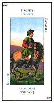 Knight of Coins Tarot Card - Etteilla Tarot Deck