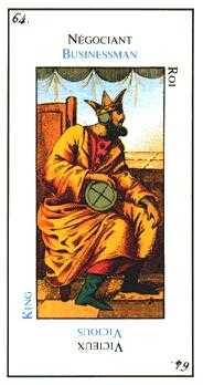 King of Diamonds Tarot Card - Etteilla Tarot Deck