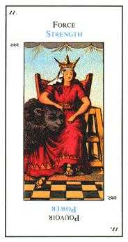 Strength Tarot Card - Etteilla Tarot Deck