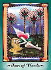 faerie-tarot - Four of Wands