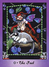 The Fool Tarot Card - Faerie Tarot Deck