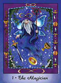 The Magician Tarot Card - Faerie Tarot Deck