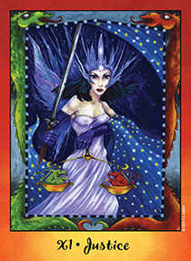 Justice Tarot Card - Faerie Tarot Deck