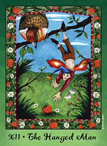 The Hanged Man Tarot Card - Faerie Tarot Deck