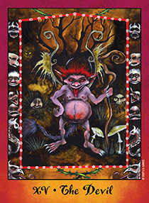 The Devil Tarot Card - Faerie Tarot Deck
