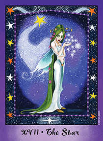 The Star Tarot Card - Faerie Tarot Deck