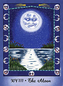 The Moon Tarot Card - Faerie Tarot Deck