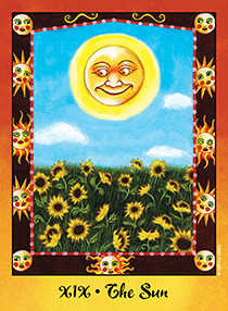 The Sun Tarot Card - Faerie Tarot Deck