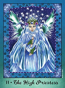 The High Priestess Tarot Card - Faerie Tarot Deck