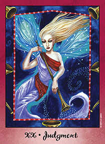 Judgment Tarot Card - Faerie Tarot Deck