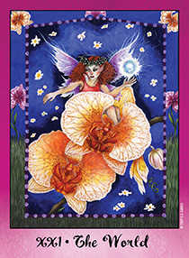 The World Tarot Card - Faerie Tarot Deck