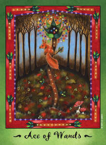 Ace of Wands Tarot Card - Faerie Tarot Deck
