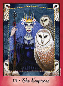 The Empress Tarot Card - Faerie Tarot Deck