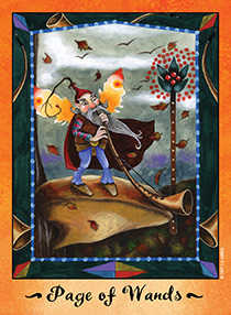 Page of Rods Tarot Card - Faerie Tarot Deck
