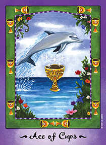Ace of Bowls Tarot Card - Faerie Tarot Deck