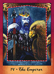 The Emperor Tarot Card - Faerie Tarot Deck