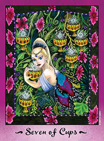 Seven of Cups Tarot Card - Faerie Tarot Deck