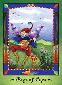 Valet of Cups Tarot Card - Faerie Tarot Deck