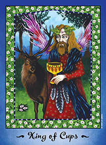 Roi of Cups Tarot Card - Faerie Tarot Deck