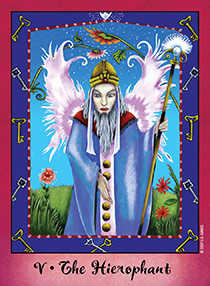 The High Priest Tarot Card - Faerie Tarot Deck