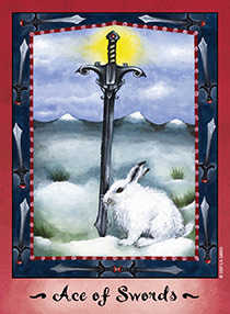 Ace of Bats Tarot Card - Faerie Tarot Deck