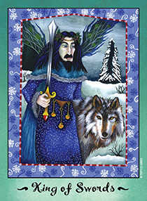 Roi of Swords Tarot Card - Faerie Tarot Deck