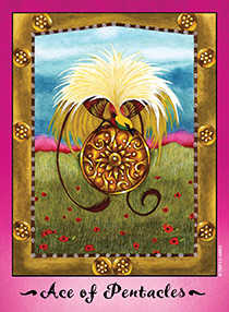Ace of Buffalo Tarot Card - Faerie Tarot Deck