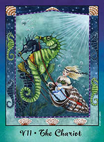 The Chariot Tarot Card - Faerie Tarot Deck