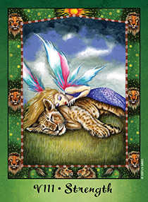 Strength Tarot Card - Faerie Tarot Deck