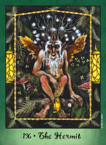 The Hermit Tarot Card - Faerie Tarot Deck