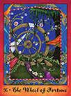 Wheel of Fortune Tarot card in Faerie Tarot deck
