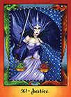 Justice Tarot card in Faerie Tarot deck