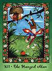 The Hanged Man Tarot card in Faerie Tarot deck
