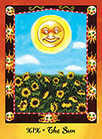 The Sun Tarot card in Faerie Tarot Tarot deck