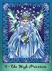 The High Priestess Tarot card in Faerie Tarot deck
