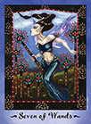 Seven of Wands Tarot card in Faerie Tarot Tarot deck
