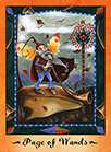 Page of Wands Tarot card in Faerie Tarot Tarot deck