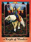 Knight of Wands Tarot card in Faerie Tarot deck