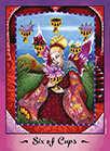 Six of Cups Tarot card in Faerie Tarot Tarot deck