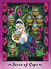 Seven of Cups Tarot card in Faerie Tarot deck